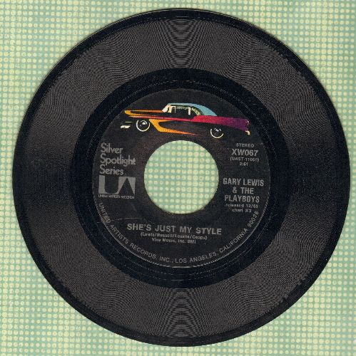 Lewis, Gary & The Playboys - She's Just My Style/Green Grass (double-hit re-issue) - NM9/ - 45 rpm Records