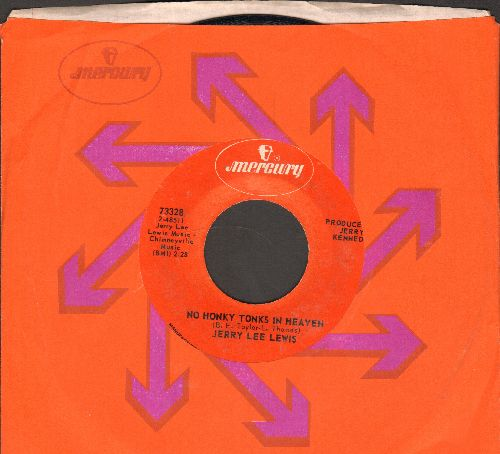 Lewis, Jerry Lee - No Honky Tonks In Heaven/Who's Gonna Play This Old Piano (with Mercury company sleeve) - EX8/ - 45 rpm Records