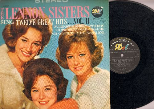 Lennon Sisters - Twelve Great Hits…Vol. II: Tammy, You Made Me Love You, Goodnight Sweetheart, Sentimental Journey (vinyl STEREO LP record) - NM9/EX8 - LP Records