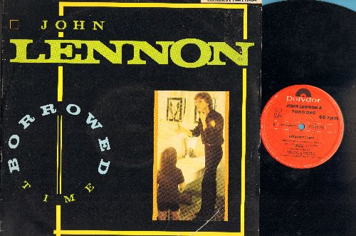 Lennon, John & Yoko Ono - Borrowed Time/Your Hands/Never Say Goodbye (Vinyl Maxi Record) (no poster) (UK Pressing) - VG7/VG7 - Maxi Singles