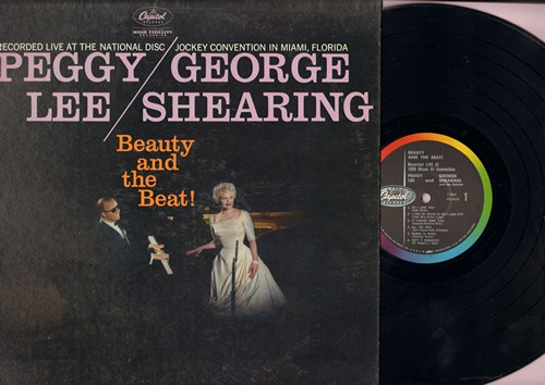 Lee, Peggy & George Shearing - Beauty And The Beat:  Do I Love You?, I Lost My Sugar In Salt Lake City, Mambo In Miami, Isn't It Romantic?, Get Out Of Town, Satin Doll (vinyl  MONO LP record - recorded Live) - EX8/VG7 - LP Records