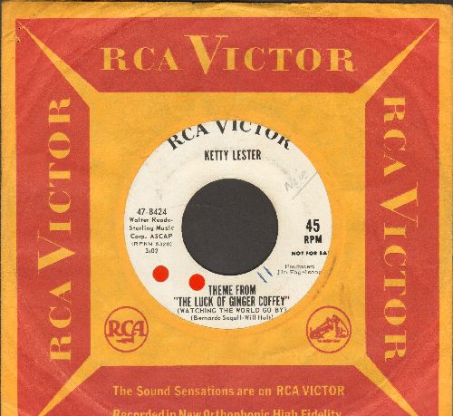 Lester, Ketty - Theme From -The Luck Of Ginger Coffey-/I Trust You Baby (DJ advance pressing with RCA company sleeve, wol) - NM9/ - 45 rpm Records