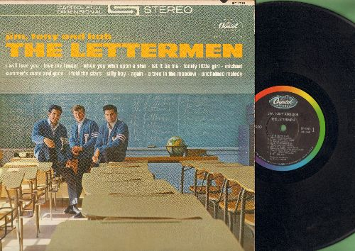 Lettermen - Jim, Tony and Bob - The Lettermen: Love Me Tender, When You Wish Upon A Star, Let It Be Me, Unchained Melody (vinyl STEREO LP record) - EX8/EX8 - LP Records