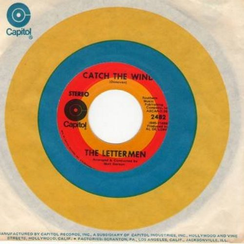 Lettermen - Catch The Wind/Hurt So Bad (with Capitol company sleeve) - NM9/ - 45 rpm Records