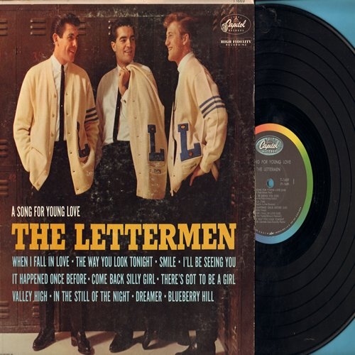 Lettermen - A Song For Young Love: When I Fall In Love, The Way You Look Tonight, Blueberry Hill, In The Still Of The Night (vinyl MONO LP record) - EX8/VG7 - LP Records