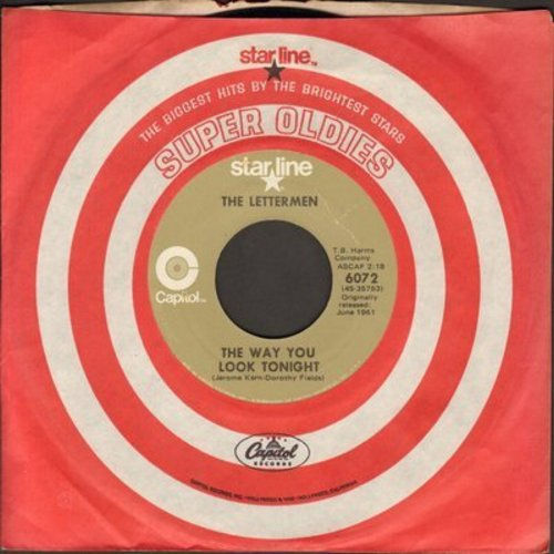Lettermen - The Way You Look Tonight/When I Fall In Love (double-hit re-issue with Capitol company sleeve) - EX8/ - 45 rpm Records
