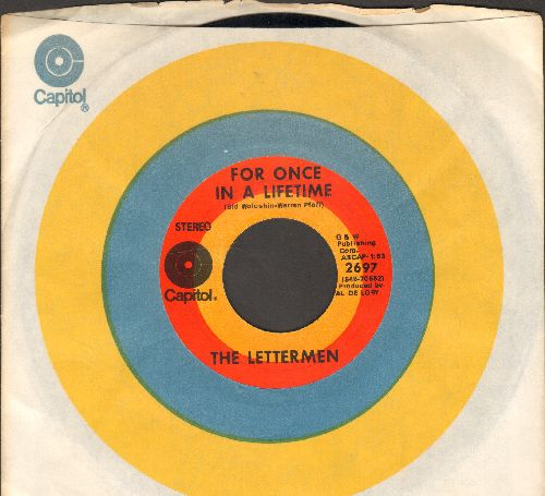 Lettermen - Traces/Memories Medley/For Once In A Lifetime (with vintage Capitol company sleeve) - EX8/ - 45 rpm Records