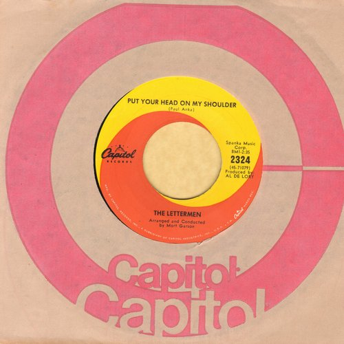 Lettermen - Put Your Head On My Shoulder/Mary's Rainbow (with Capitol company sleeve) - NM9/ - 45 rpm Records