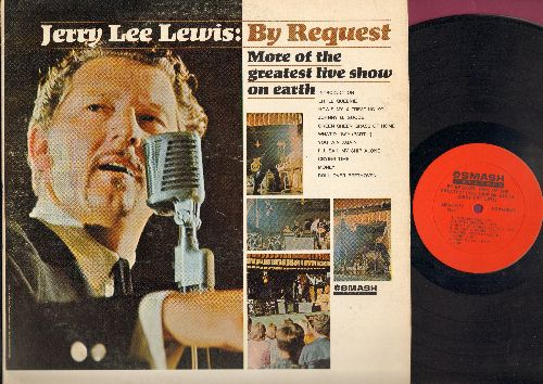 Lewis, Jerry Lee - By Request: Little Queenie, How's My X Treating You, Johnny B. Goode, Green, Green Grass Of Home, What'd I Say - Part II, You Win Again, I'll Sail My Ship Alone, Crying Time, Money, Roll Over Beethoven (Vinyl LP Record) - EX8/VG7 - LP R