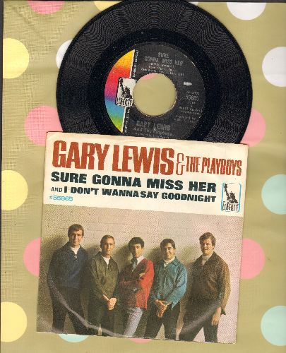 Lewis, Gary & The Playboys - Sure Gonna Miss Her/I Don't Wanna Say Goodnight (with picture sleeve) - EX8/EX8 - 45 rpm Records