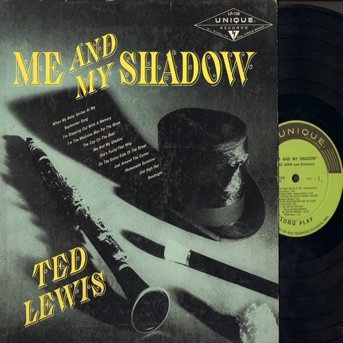 Lewis, Ted & His Orchestra - Me And My Shadow: September Song, When My Baby Smiles At Me, Old High Hat, Goodnight (vinyl MONO LP record) - NM9/VG7 - LP Records
