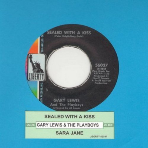 Lewis, Gary & The Playboys - Sealed With A Kiss/Sara Jane (with juke box label) - EX8/ - 45 rpm Records