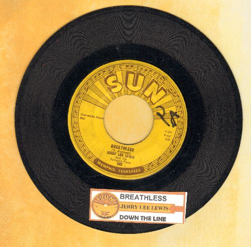 Lewis, Jerry Lee - Breathless/Down The Line (with juke box label) - VG6/ - 45 rpm Records