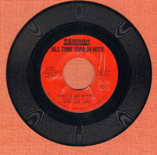 Lewis, Jerry Lee - High School Confidential/Great Balls Of Fire (double-hit re-issue) - EX8/ - 45 rpm Records