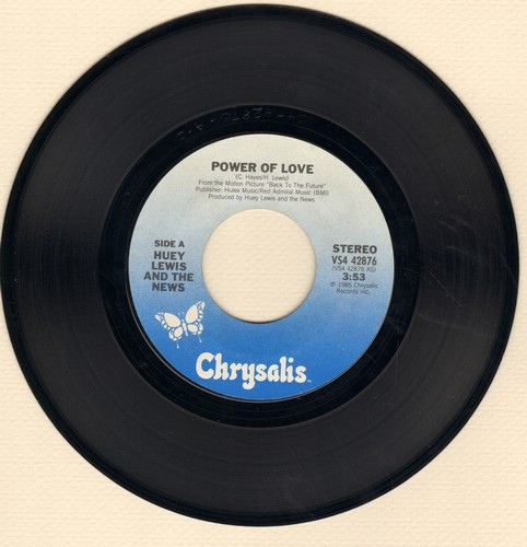 Lewis, Huey & The News - The Power Of Love (from film -Back To The Future-)/Bad Is Bad  - EX8/ - 45 rpm Records