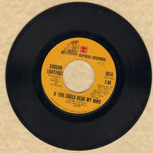 Lightfoot, Gordon - If You Could Read My Mind/Poor Little Allison  - VG7/ - 45 rpm Records