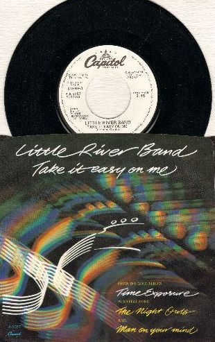 Little River Band - Take It Easy On Me (double-A-sided DJ advance pressing with picture sleeve) - M10/M10 - 45 rpm Records
