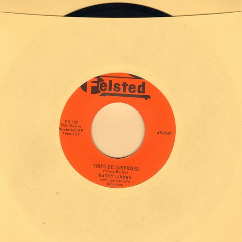 Linden, Kathy - You'd Be Surprised/Why Oh Why (with juke box label) - M10/ - 45 rpm Records