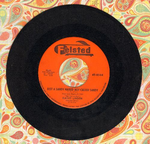 Linden, Kathy - Just A Sandy Haired Boy Named Sandy/Kissin' Conversation - EX8/ - 45 rpm Records