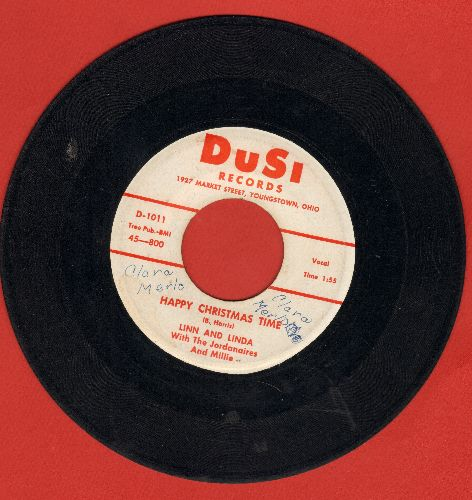 Linn & Linda with The Jordanaires & Millie - Happy Christmas Time/Christmas Orphan (wol) - VG7/ - 45 rpm Records