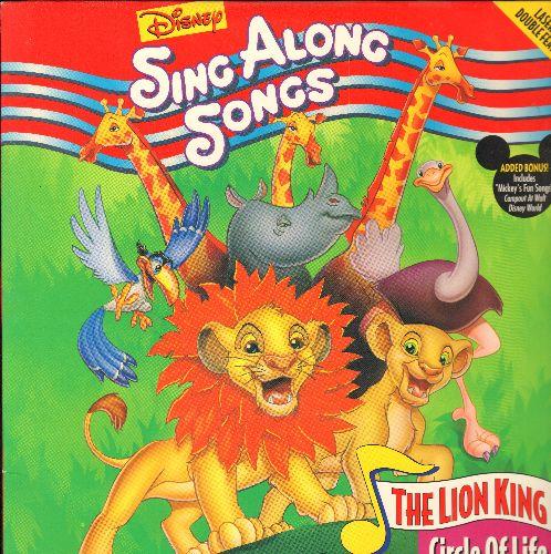 Lion King Circle Of Life - Disney's Sing Along The Lion King Circle OF Life LASER DISC (THIS IS NOT THE ANIMATED FILM VERSION) - NM9/NM9 - Laser Discs