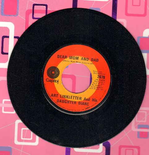 Linkletter, Art & His Daughter Diane - Dear Mom And Dad/We Love You, Call Collect (Art Linkletter and his daughter Diane narrate an anguished cry for communication between the generations)  - NM9/ - 45 rpm Records