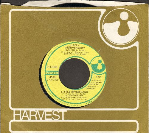 Little River Band - Happy Anniversary/Changed And Different (with RARE Harvest company sleeve) - NM9/ - 45 rpm Records
