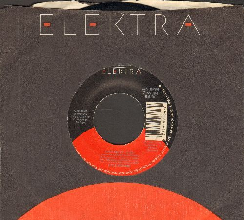 Little Richard - Tutti Frutti/Powerful Stuff (byThe Fabulous Thunderbirds on ALTERNATE flip-side, with Elektra company sleeve) - VG7/ - 45 rpm Records