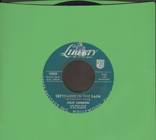 London, Julie - September In The Rain/Lonely Girl  - VG6/ - 45 rpm Records