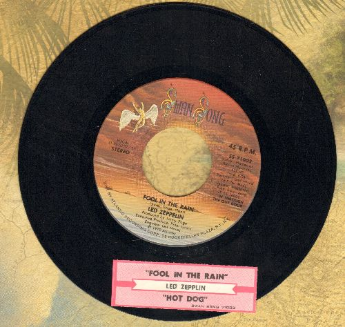 Led Zeppelin - Fool In The Rain/Hot Dog (with juke box label) - VG7/ - 45 rpm Records