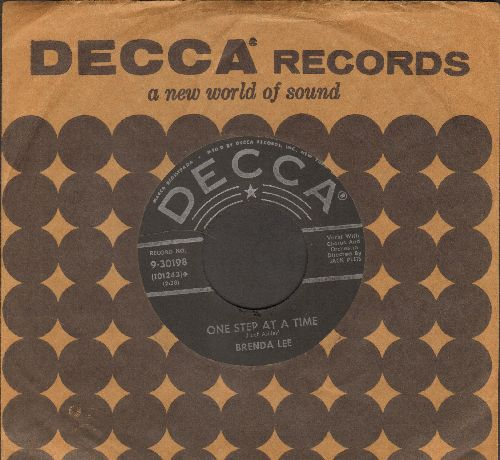 Lee, Brenda - One Step At A Time/Fairyland (with DECCA company sleeve) - VG7/ - 45 rpm Records