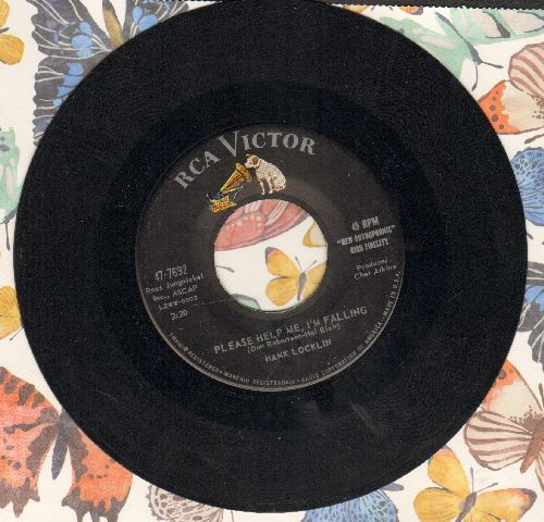 Locklin, Hank - Please Help Me, I'm Falling/My Old Home Town - VG7/ - 45 rpm Records
