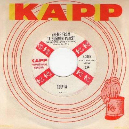 Lolita - Theme From -A Summer Place- (Wenn der Sommer kommt)/Cowboy Jimmy Joe (Die Sterne der Prairie) (US DJ advance copy with vintage Kapp company sleeve, sung in German) - NM9/ - 45 rpm Records