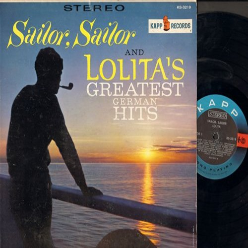 Lolita - Sailor, Sailor & Lolita's Greatest German Hits: Seemann (Sailor, Your Home Is The Sea), La Luna, Wenn der Sommer kommt (Theme From A Summer Place) (vinyl STEREO LP record) - EX8/EX8 - LP Records