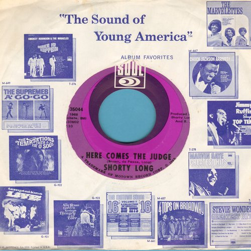 Long, Shorty - Here Comes The Judge/Sing What You Wanna (MINT condition with Motown company sleeve) - M10/ - 45 rpm Records