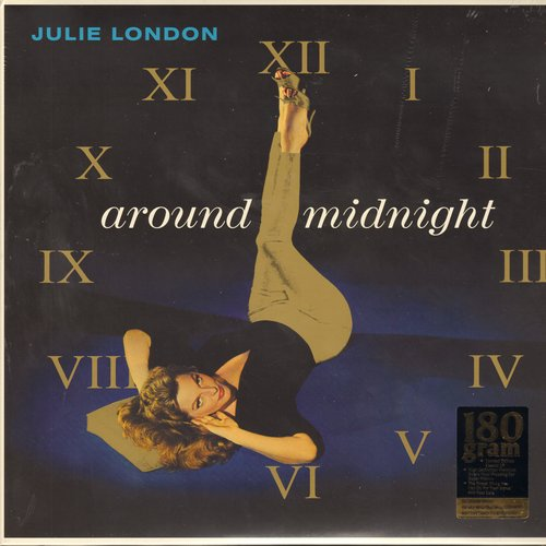 London, Julie - Around Midnight: Black Coffee, Lush Life, The Party's Over, Misty, Something Cool (STEREO LP record, digitally remastered 180 gram vinyl re-issue, SEALED, never opened!) - SEALED/SEALED - LP Records