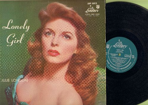 London, Julie - Lonely Girl: Fools Rush In, How Deep Is The Ocean, Mean To Me, Where Or When (vinyl MONO LP record, green label early pressing) - VG7/VG7 - LP Records