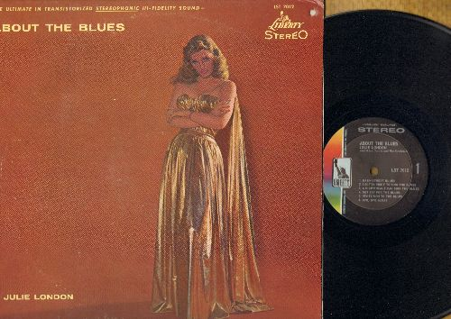 London, Julie - About The Blues: Basin Street Blues, Blues In The Night, Sunday Blues (vinyl STEREO LP record) - NM9/EX8 - LP Records