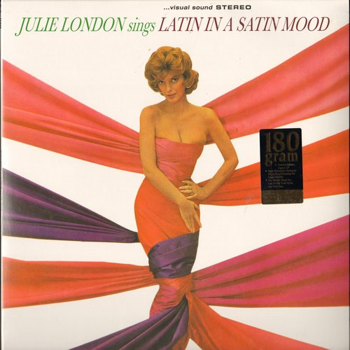London, Julie - Julie London Sings Latin In A Satin Mood: Frenesi, Sway, Perfidia, Amor, Vaya Con Dios (STEREO LP record, RARE 180 gram high quality vinyl re-issue, SEALED, never opened!) - SEALED/SEALED - LP Records