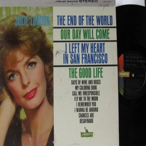 London, Julie - The End Of The World: Our Day Will Come, I Left My Heart In San Francisco, Fly Me To The Moon, Chances Are, My Coloring Book (vinyl STEREO LP record) - NM9/EX8 - LP Records