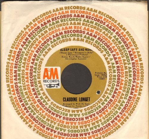 Longet, Claudine - Sleep Safe And Warm (Theme from -Rosemary's Baby-)It's Hard To Say Goodbye (with A&M company sleeve, bb) - NM9/ - 45 rpm Records