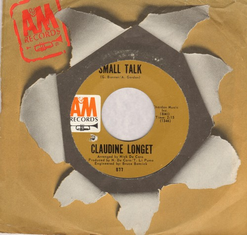 Longet, Claudine - Small Talk/Man In A Raincoat (bb) - NM9/ - 45 rpm Records