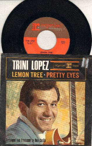 Lopez, Trini - Lemon Tree/Pretty Eyes (MINT condition with picture sleeve) - M10/EX8 - 45 rpm Records