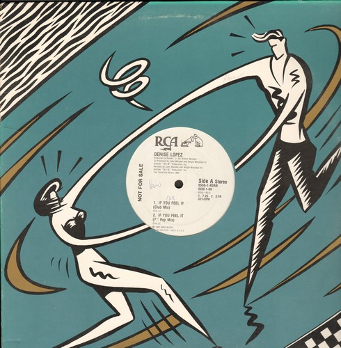 Lopez, Denise - If You Feel It (4 different Extended Dance Club Tracks on 12 inch vinyl Maxi Single) - NM9/ - Maxi Singles