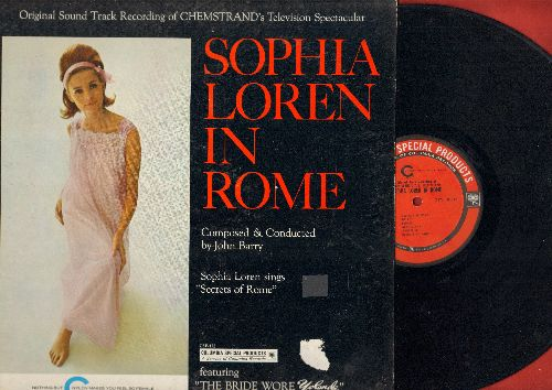 Loren, Sophia - Sophia Loren In Rome - From The Original Television Sound Track Recording, includes vocal -Secrets Of Rome- by Sophia Loren/The Bride Wore Yolande (vinyl STEREO LP record) - VG7/VG7 - LP Records