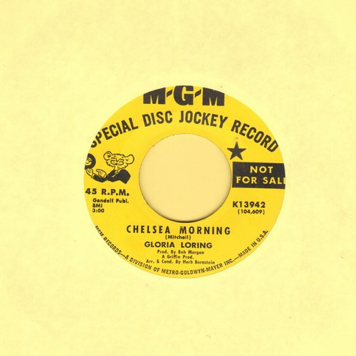 Loring, Gloria - Chelsea Morning (MINT condition double-A-sided DJ advance pressing) - M10/ - 45 rpm Records