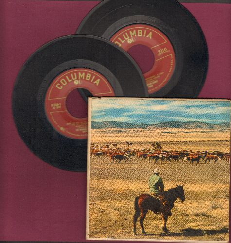Luboff, Norman Choir - Tumbling Tumbleweeds/Streets Of Laredo/Home On The Range/Colorado Trail + 3 (2 vinylEP records in gate-fold picture cover) - VG7/VG7 - 45 rpm Records