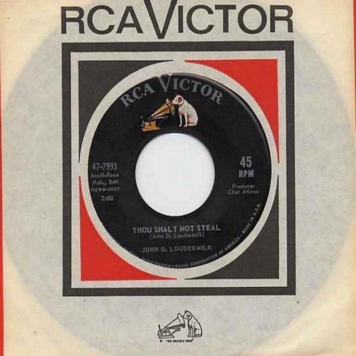 Loudermilk, John D. - Thou Shalt Not Steal (NICE version of the song that became a hit for Dick & Dee Dee)/Mister Jones (with RCA company sleeve) - EX8/ - 45 rpm Records