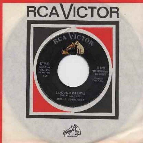 Loudermilk, John D. - Language Of Love (Shoobie-Doobie-Doobie-Doo)/Darling Jane (with RCA company sleeve and juke box label) - EX8/ - 45 rpm Records