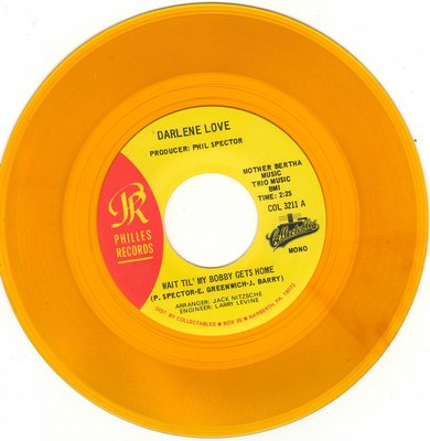Love, Darlene - Wait 'Til My Bobby Gets Home/Stumble And Fall (yellow vinyl re-issue) - NM9/ - 45 rpm Records